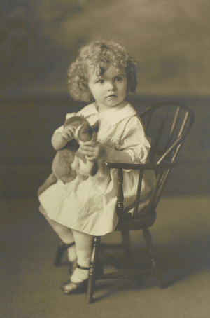 Nancy as a child