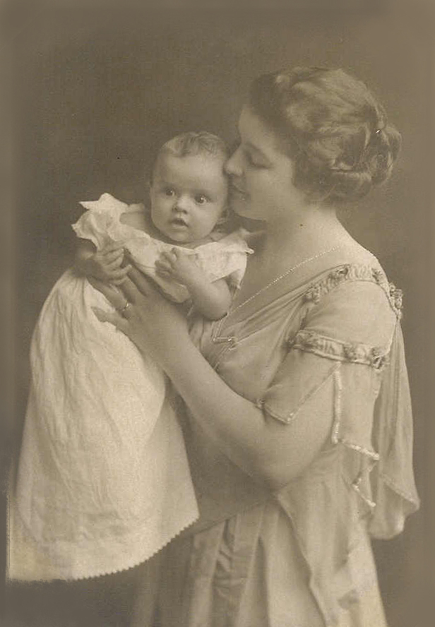 Nancy with mother, 1917